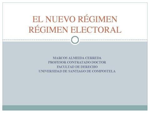 Presentación, primeira ponencia - Xornadas sobre o proceso electoral e renovación das entidades locais galegas